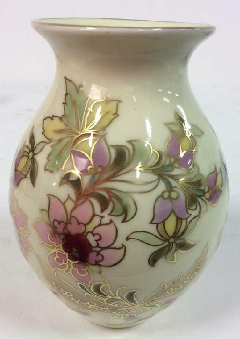 Hungarian Painted Porcelain Vase Vessel - 7