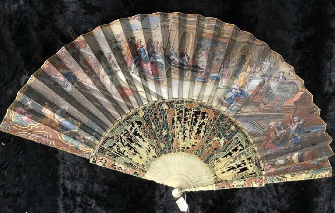 Antique Poss Louis XV Ladies Fan