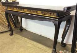 Vintage Carved Wooden Oriental Console Altar Table