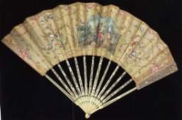 Antique Victorian Ladies Fan Bone Panels, A.RODIEN