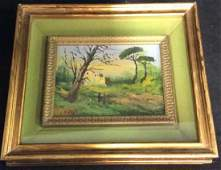 FUSCA Signed Oil Painting of Country House