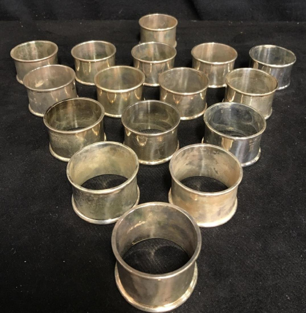 Set Of 16 Silver Plate Napkin Rings