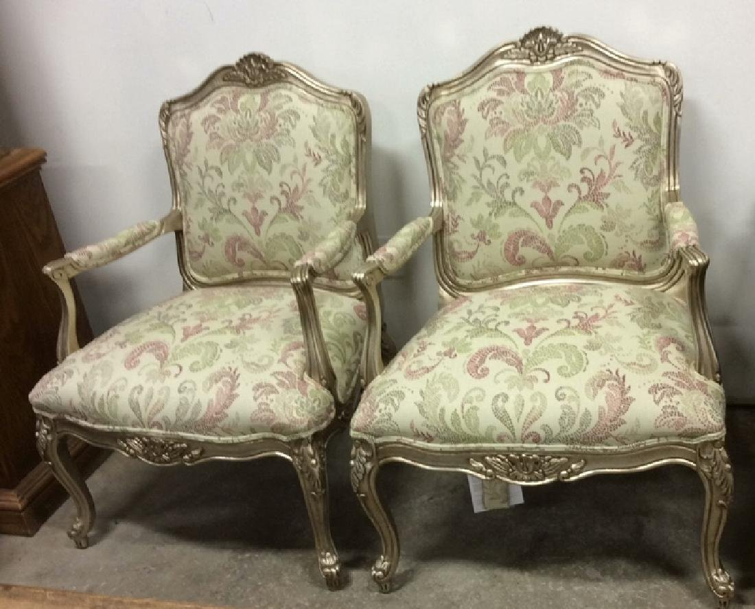 Pair ETHAN ALLEN French Provincial Style Armchairs