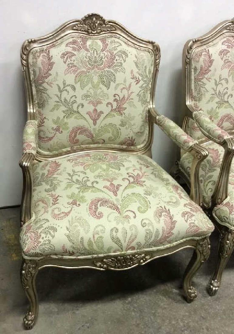 Pair ETHAN ALLEN French Provincial Style Armchairs - 2