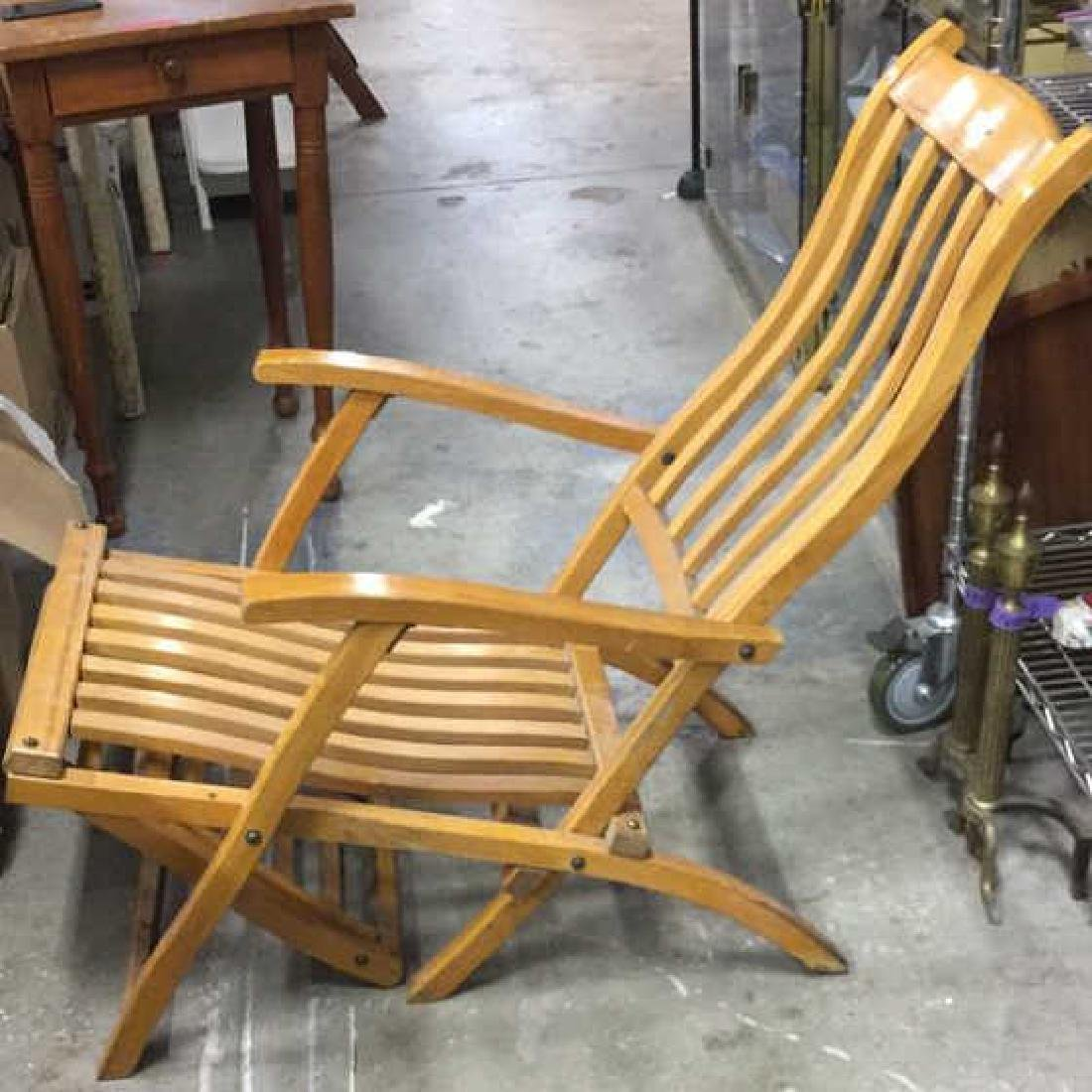 The R.M.S. Queen Mary Wooden Lounge Chair