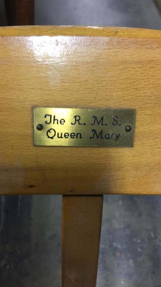 The R.M.S. Queen Mary Wooden Lounge Chair - 5