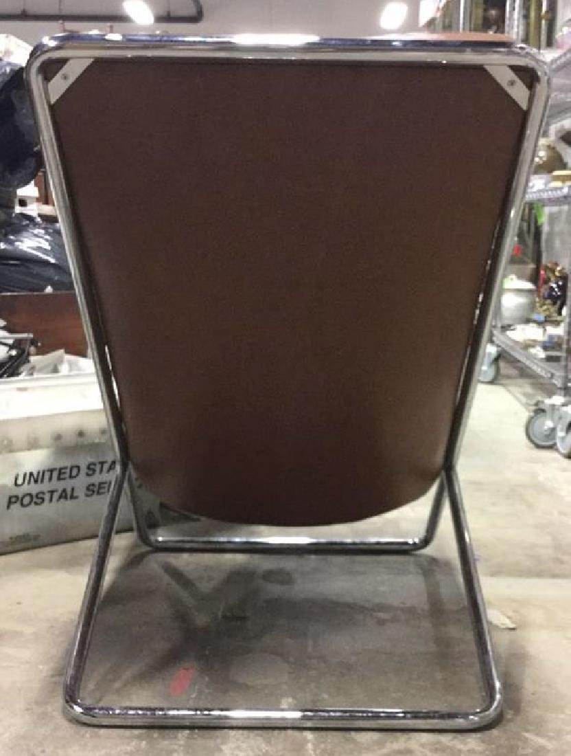 Mid-Century Modern Chrome and Leather Chair - 7