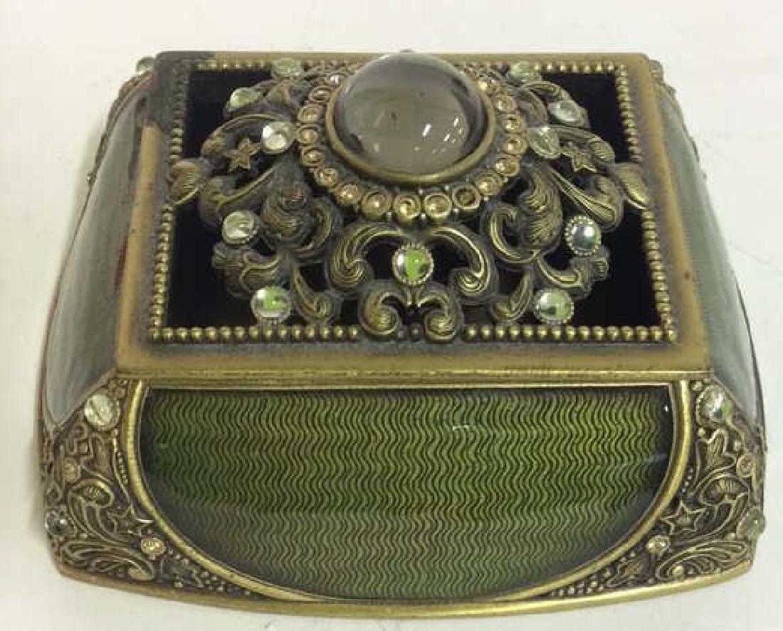 BEREBI Bejeweled Enameled Gilded Box