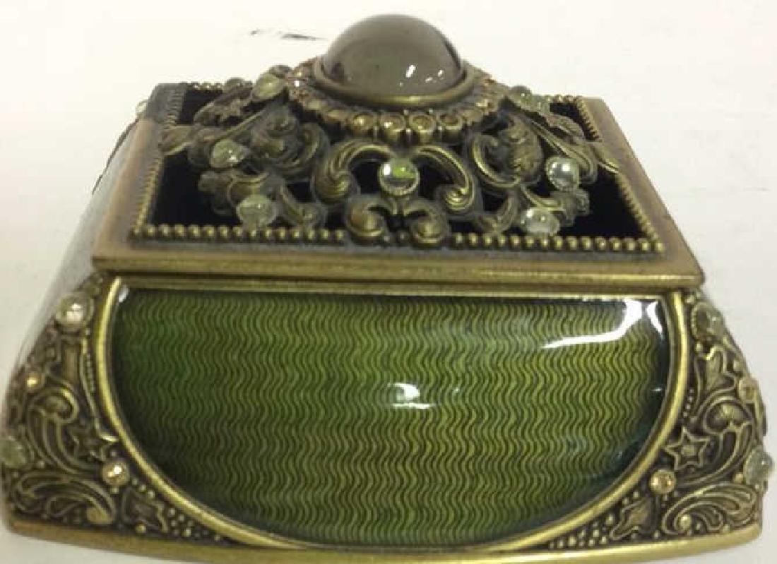 BEREBI Bejeweled Enameled Gilded Box - 2