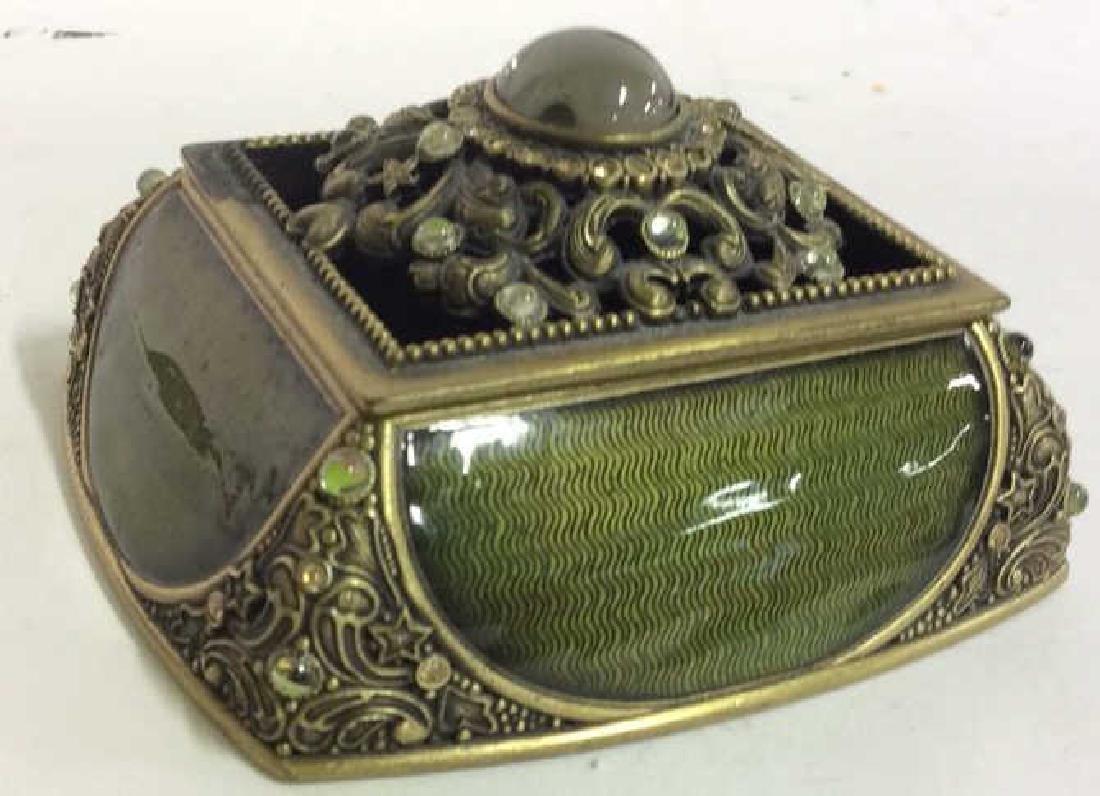 BEREBI Bejeweled Enameled Gilded Box - 3
