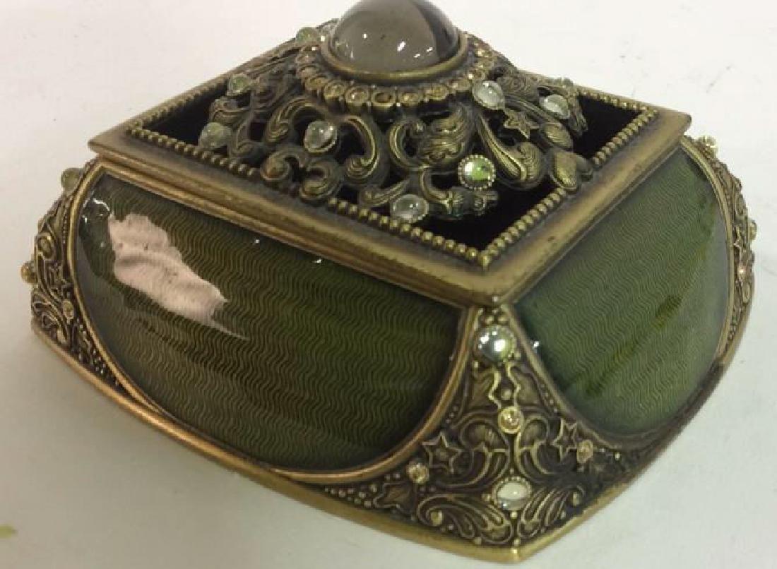 BEREBI Bejeweled Enameled Gilded Box - 4