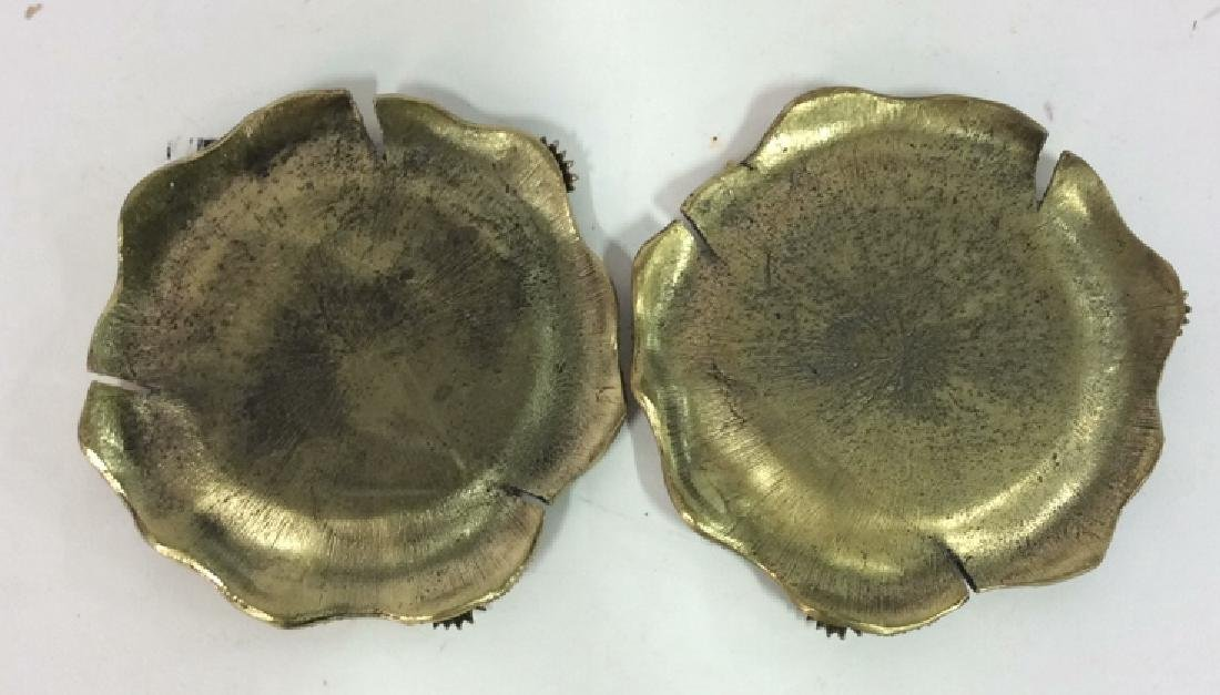 Pair Bejeweled Enameled Gilded Candle Hokders - 10