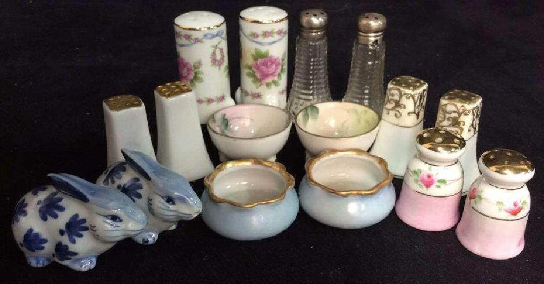 Vintage Antique Porcelain Salt Pepper Lot