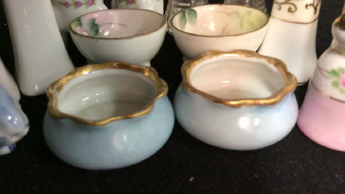 Vintage Antique Porcelain Salt Pepper Lot - 3