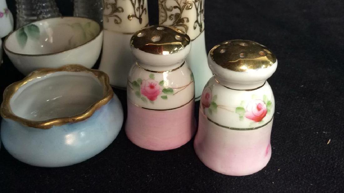 Vintage Antique Porcelain Salt Pepper Lot - 5