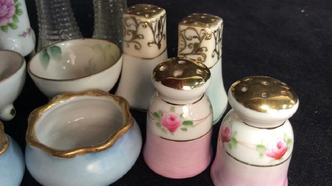 Vintage Antique Porcelain Salt Pepper Lot - 6