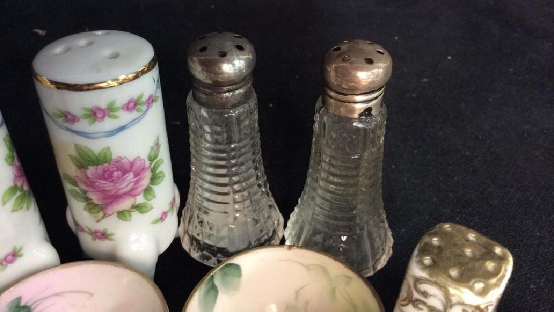 Vintage Antique Porcelain Salt Pepper Lot - 7