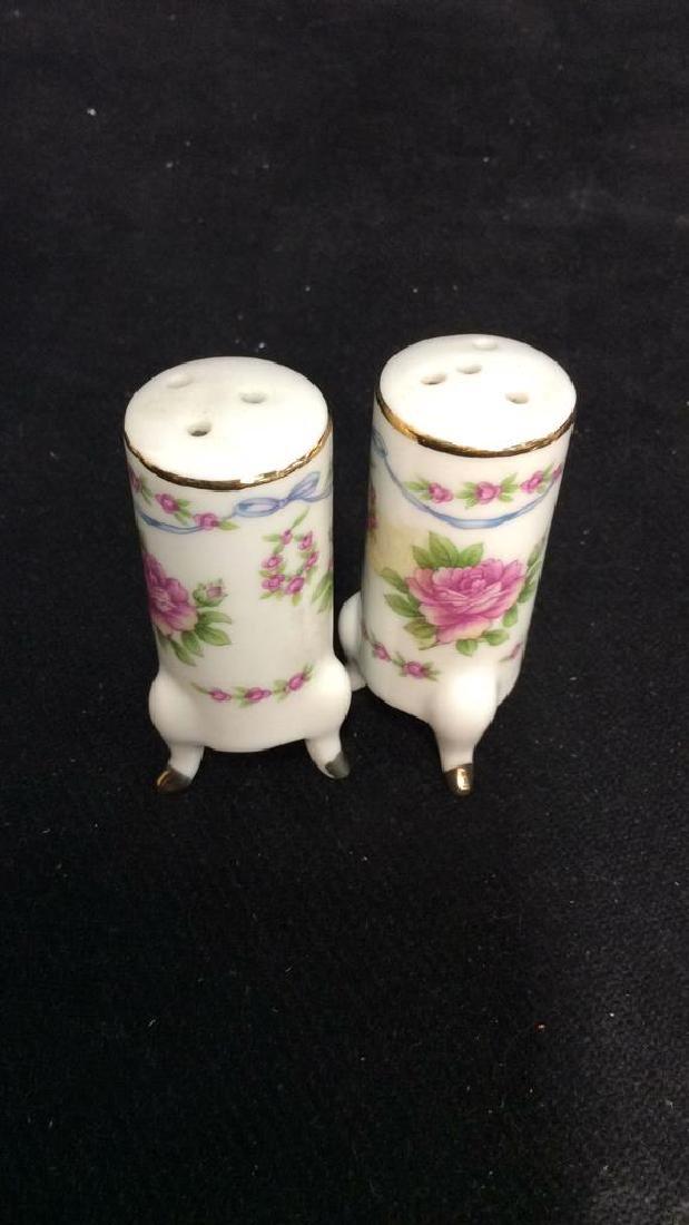Vintage Antique Porcelain Salt Pepper Lot - 8