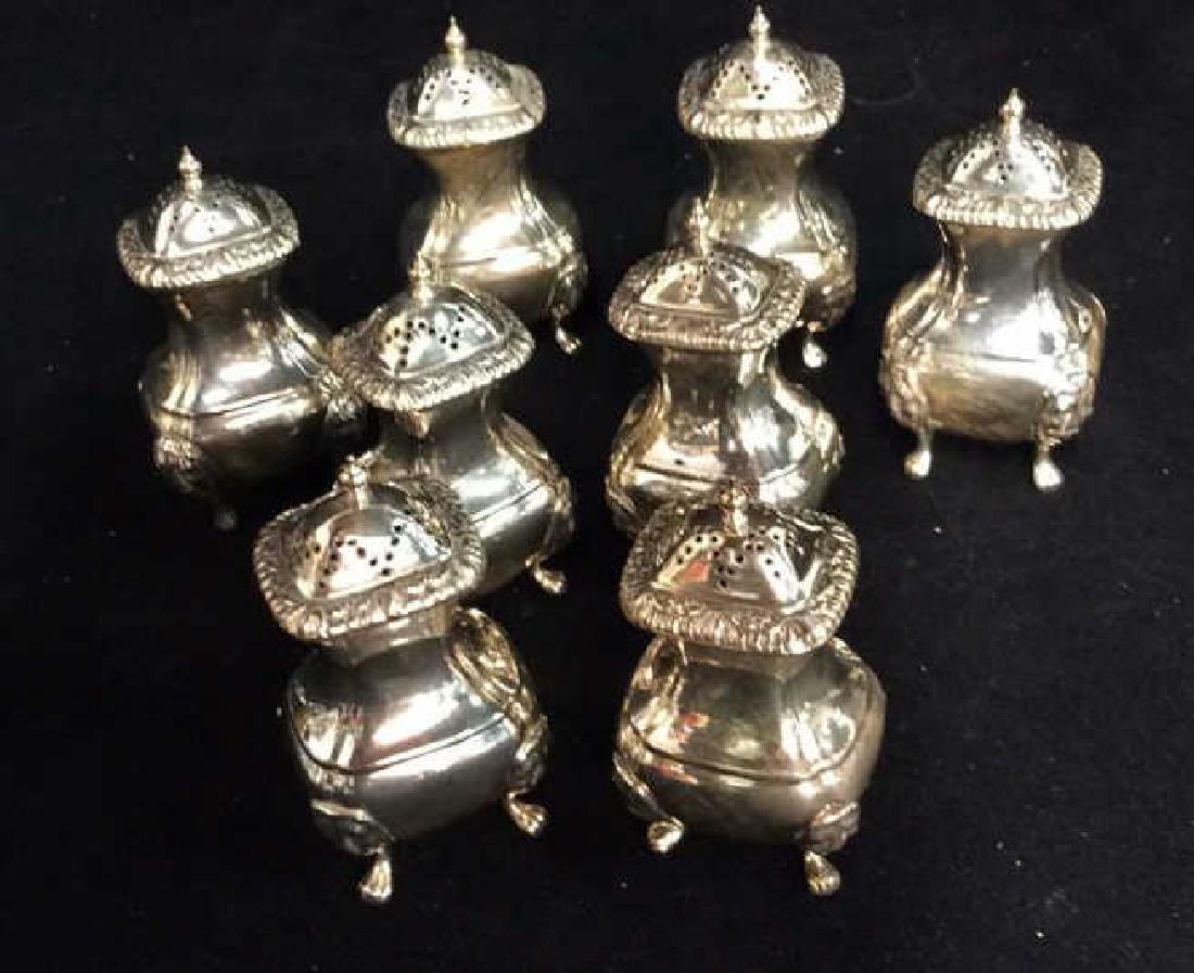 English Silver Pl Salt Pepper Shakers - 4