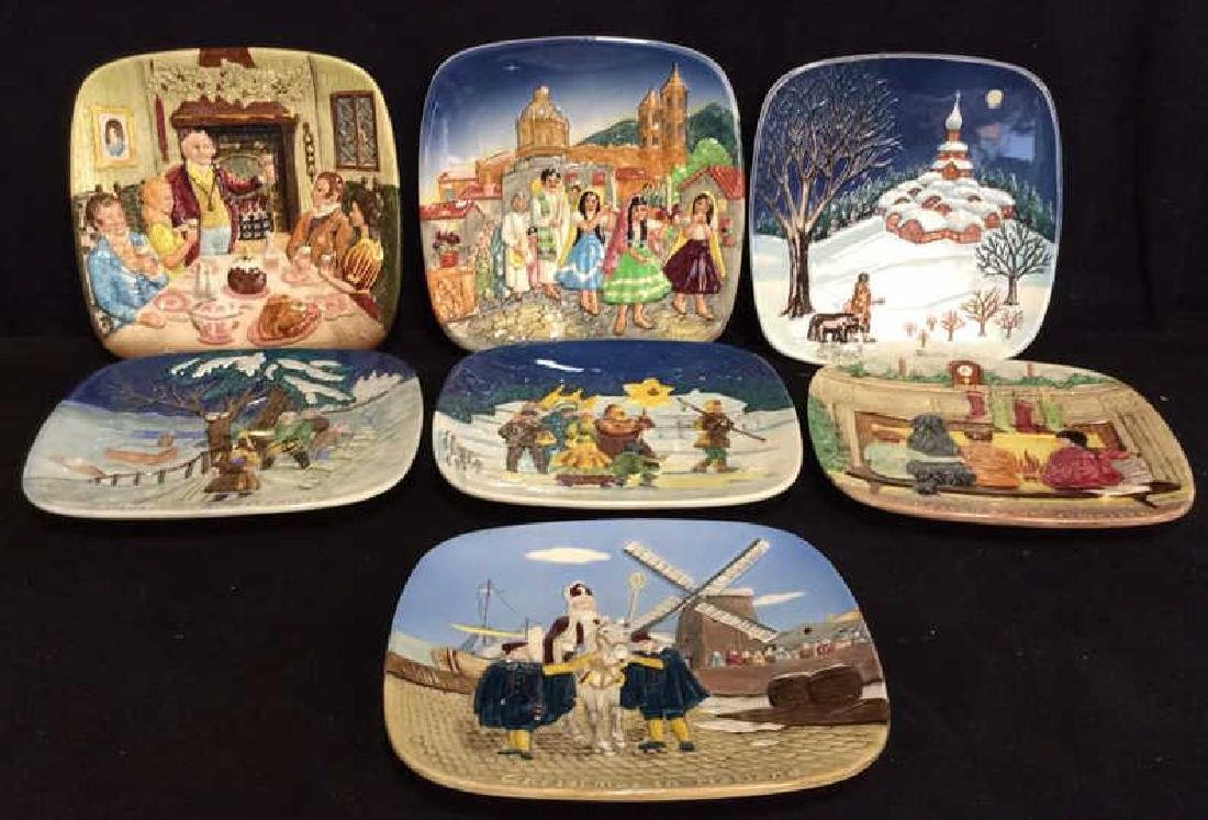 Set 7 BESWICK Collectible Christmas Plates