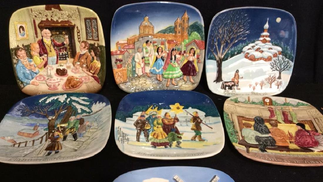 Set 7 BESWICK Collectible Christmas Plates - 2