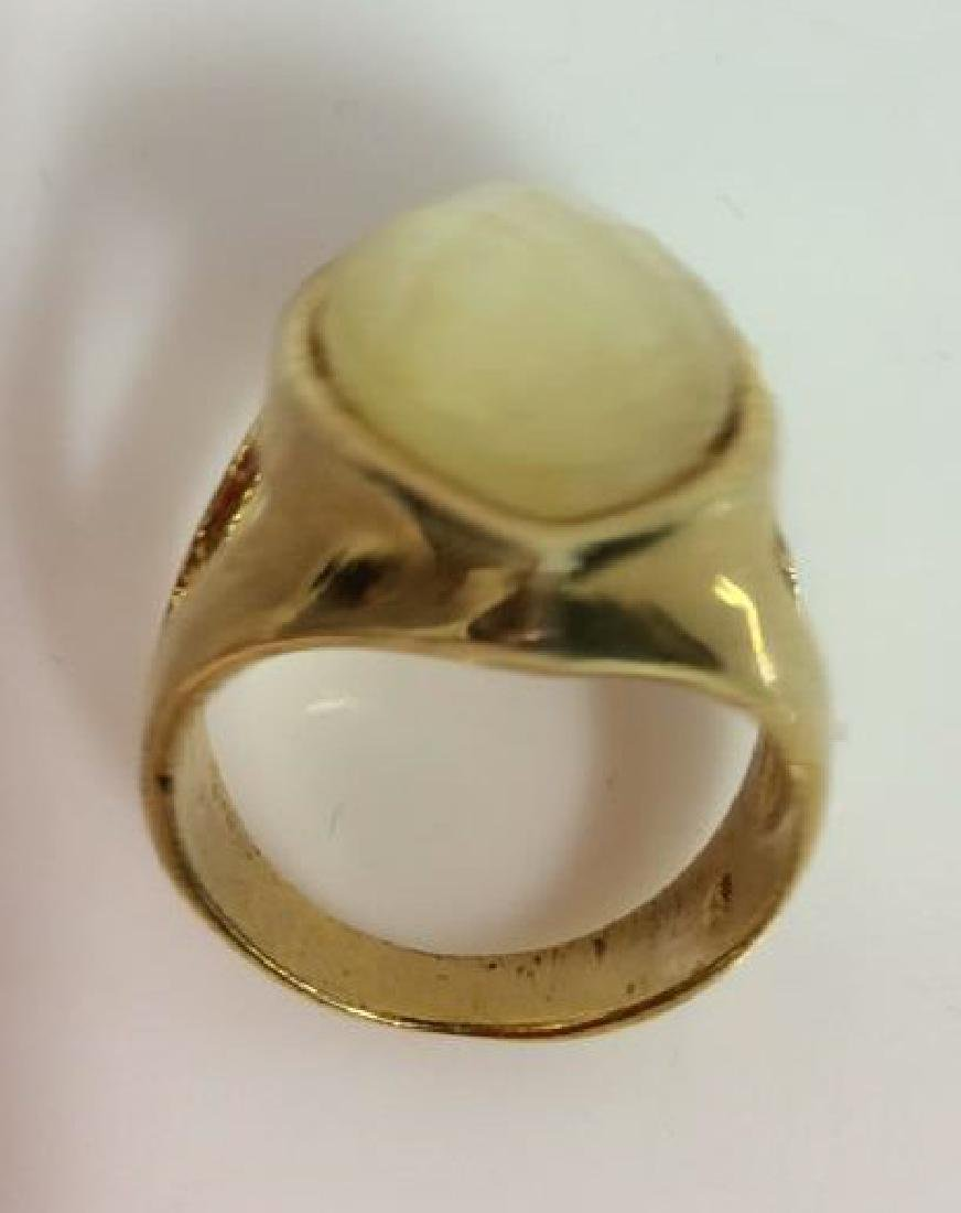 Pair Gold Toned Metal Rings Jewelry - 4