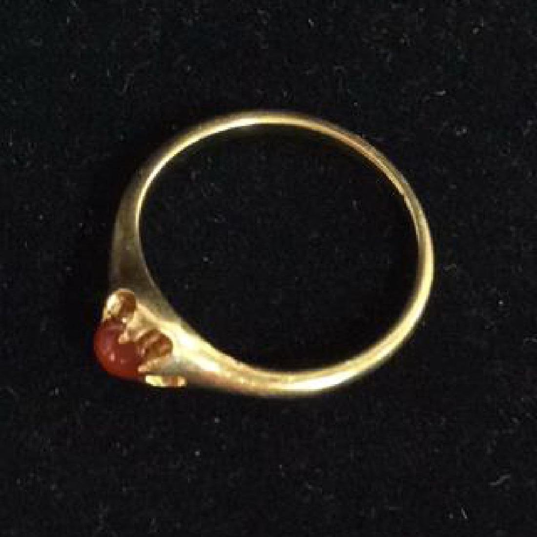 14 K Gold Ring With Natural Stone - 4