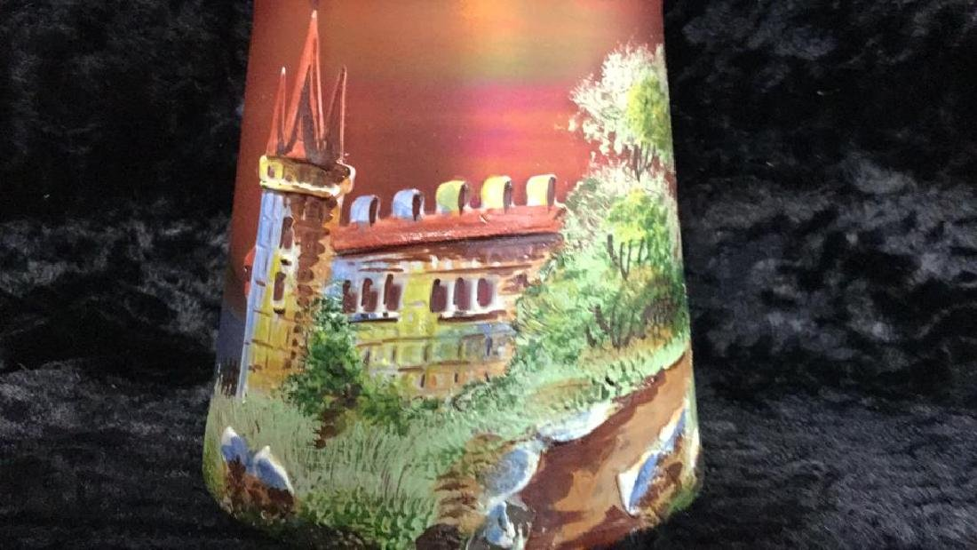 Iridescent Glass Painted Light Shade - 3