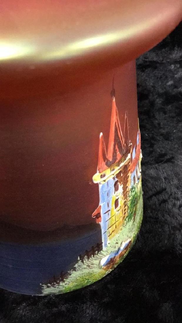 Iridescent Glass Painted Light Shade - 4