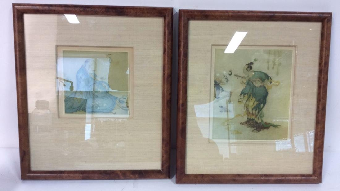 Lot 2 Reproduction of Asian Matte Art Print