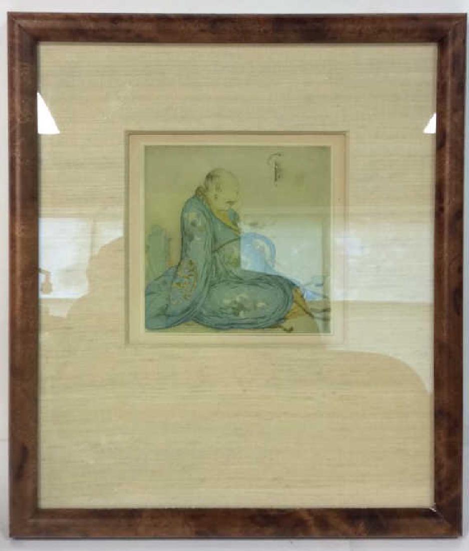 Lot 2 Reproduction of Asian Matte Art Print - 2