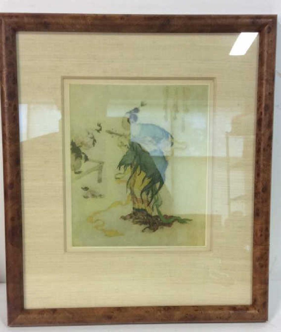 Lot 2 Reproduction of Asian Matte Art Print - 3