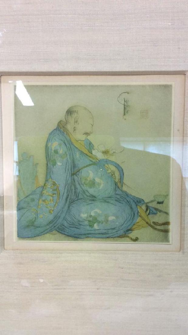 Lot 2 Reproduction of Asian Matte Art Print - 4
