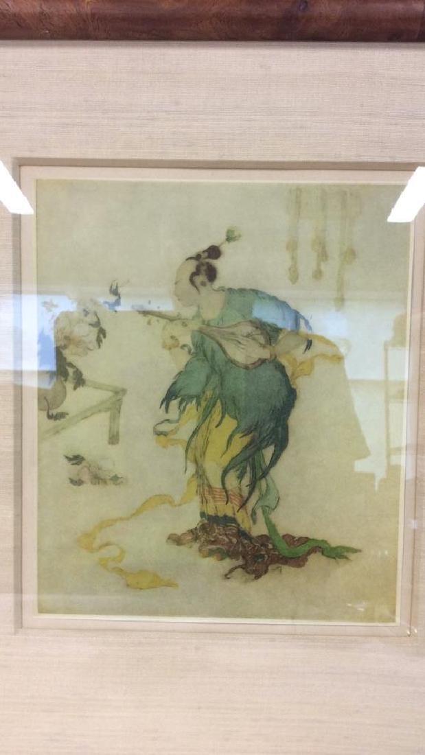 Lot 2 Reproduction of Asian Matte Art Print - 5