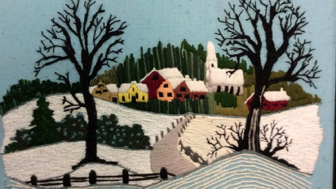 Yarn Embroidered Landscape Artwork