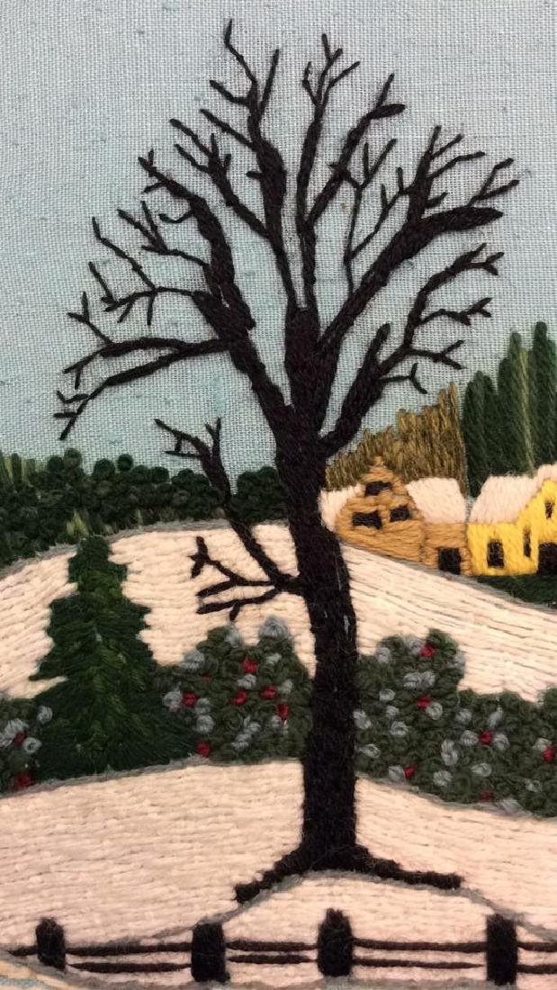 Yarn Embroidered Landscape Artwork - 4