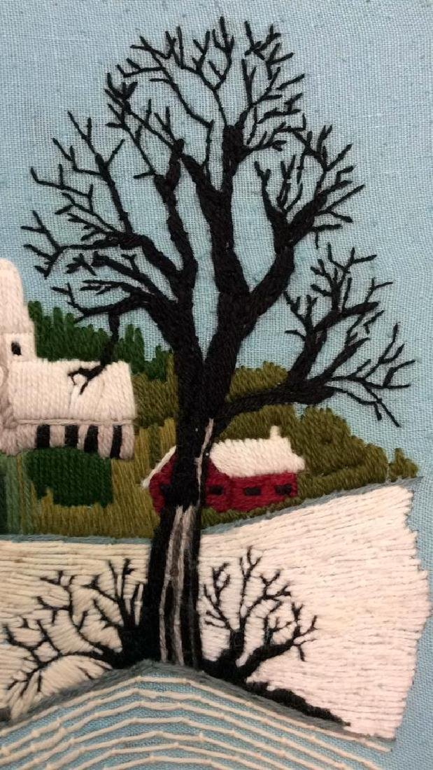 Yarn Embroidered Landscape Artwork - 5
