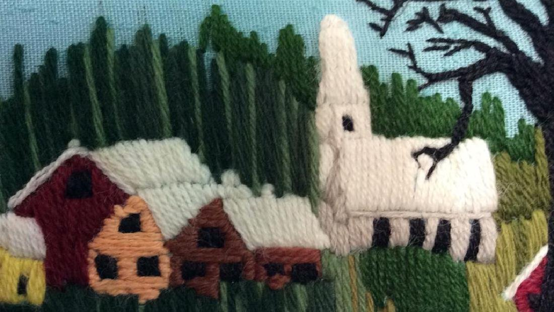 Yarn Embroidered Landscape Artwork - 8