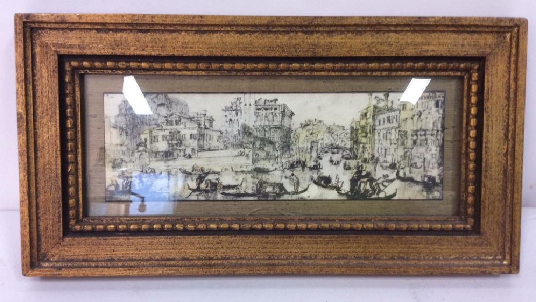 Lot 2 Poss Pen And Ink With Gold Toned Frame - 3