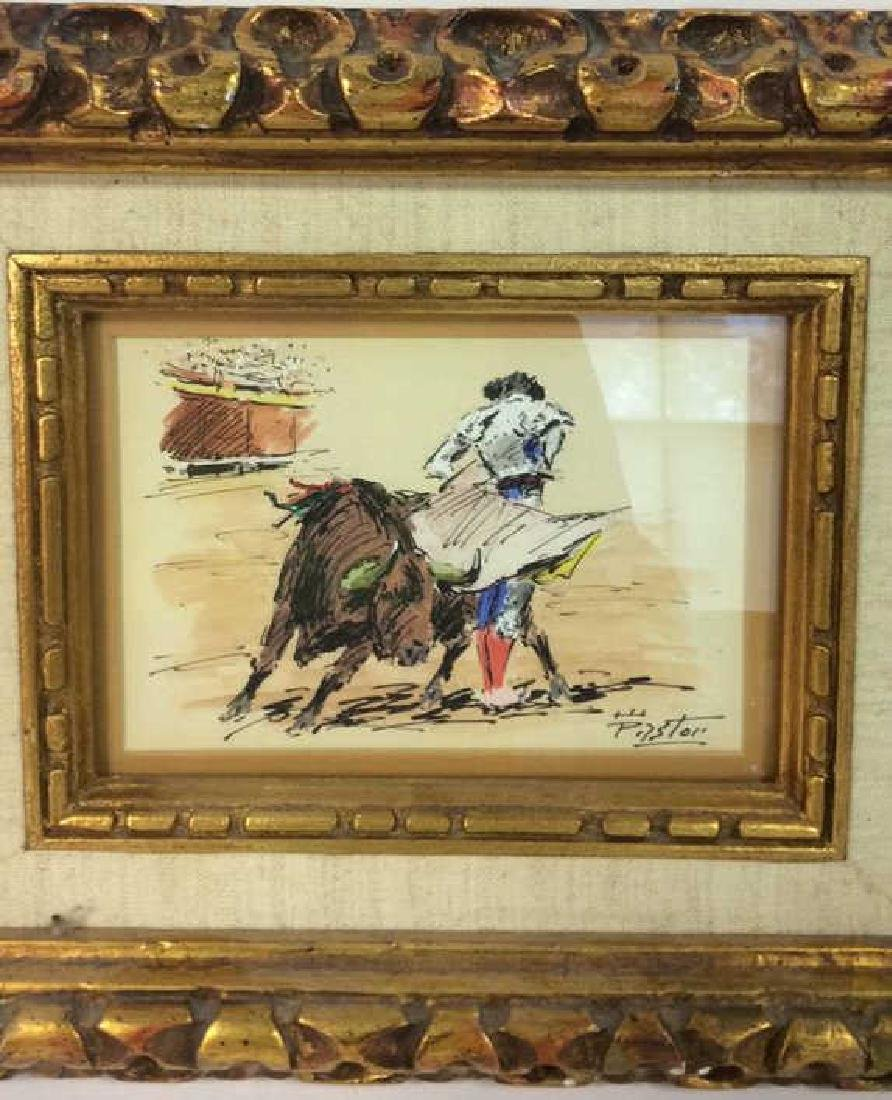 Lot 2 Poss Pen And Ink With Gold Toned Frame - 4