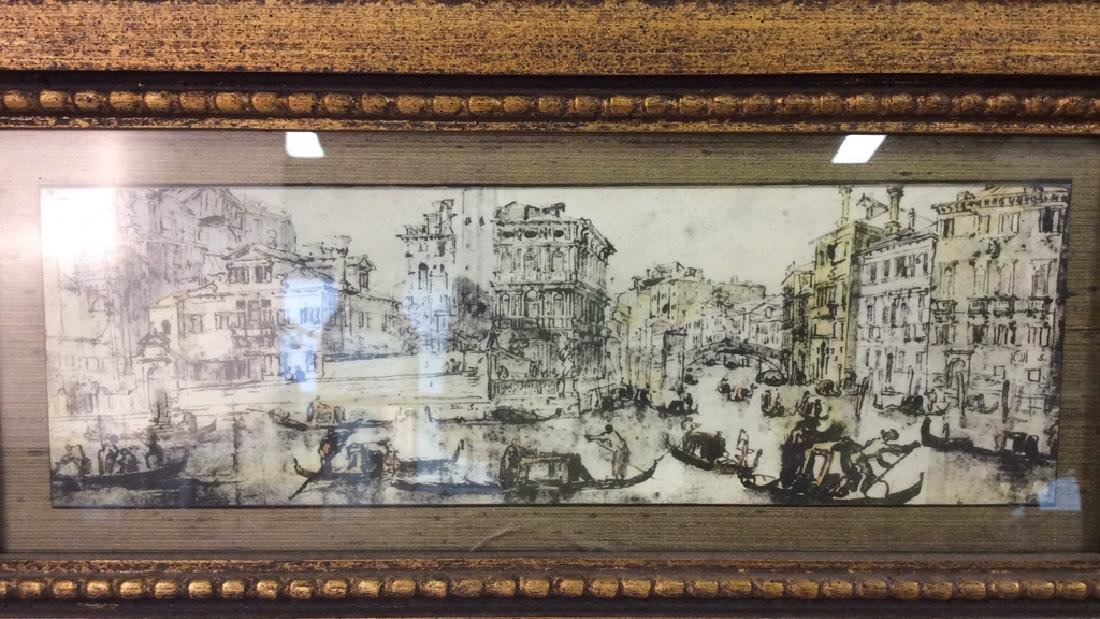 Lot 2 Poss Pen And Ink With Gold Toned Frame - 5