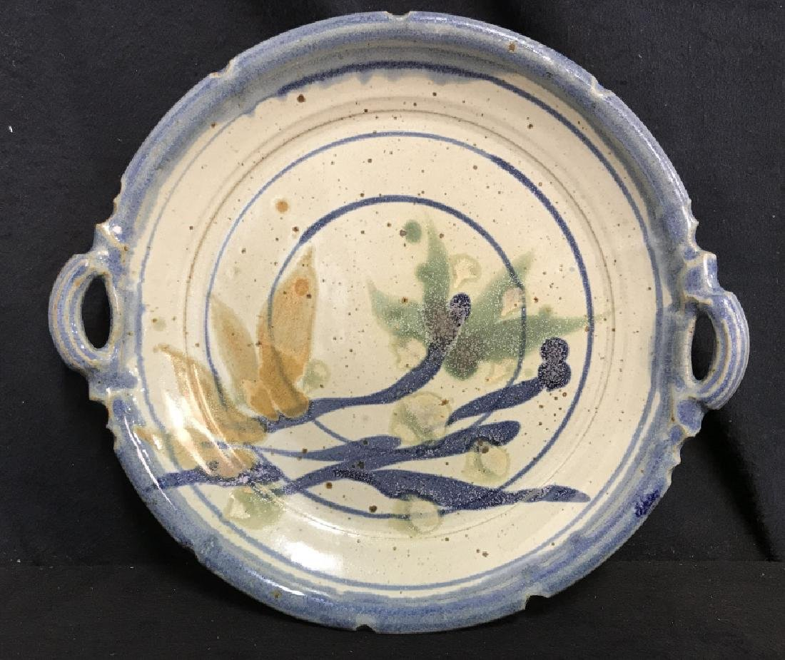 Signed Abstract Studio Pottery Dish