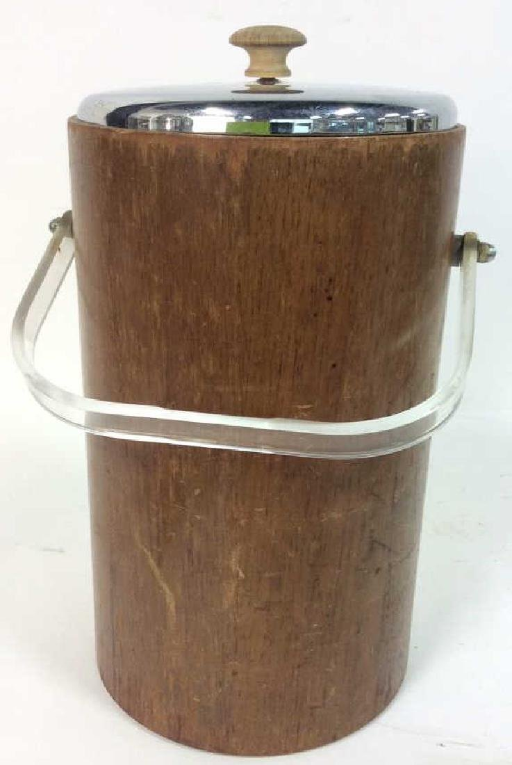 Brown Toned Wooden Ice Bucket