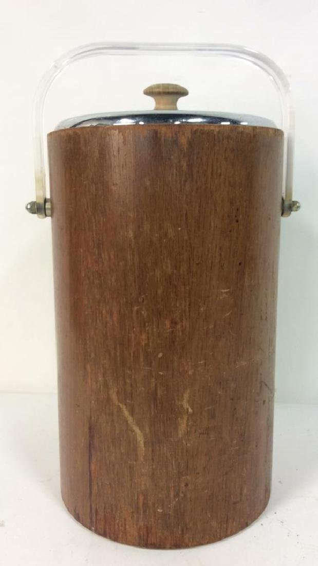 Brown Toned Wooden Ice Bucket - 2
