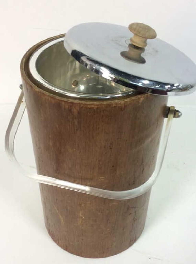 Brown Toned Wooden Ice Bucket - 8