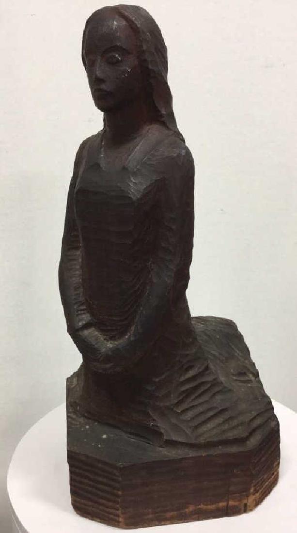 Carved Wooden Sculpture Female Figure