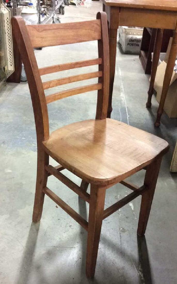 Brown Toned Wooden Chair