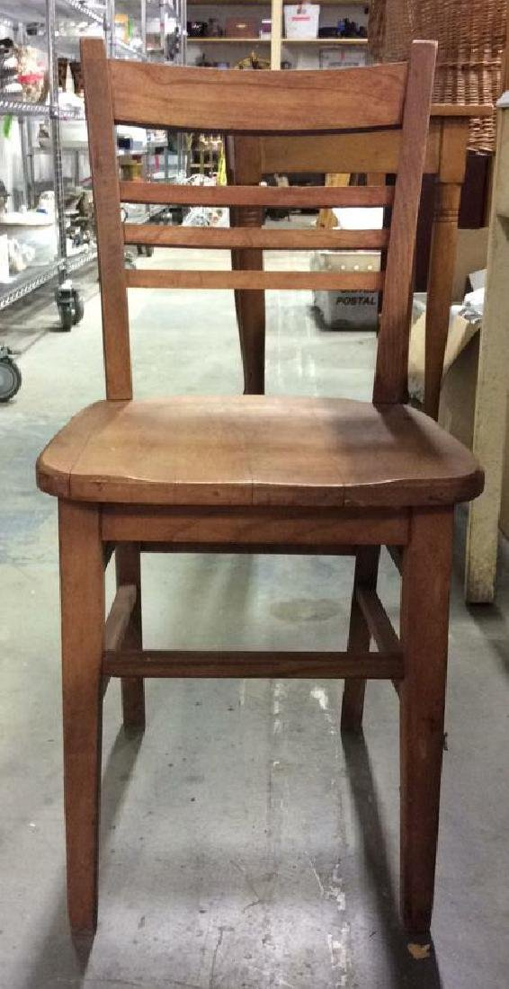 Brown Toned Wooden Chair - 2