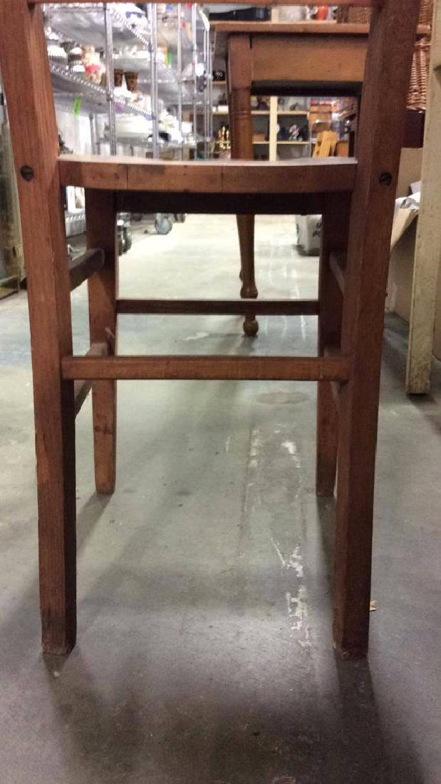 Brown Toned Wooden Chair - 5