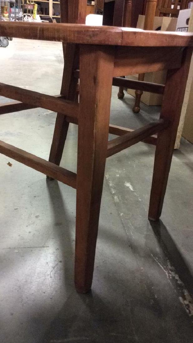Brown Toned Wooden Chair - 6